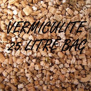 VERMICULITE 25 LITRE BAG OF GRADE 3 HYDROPONIC GROWING MEDIUM 25L