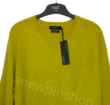 M&S Ladies Jumper Winter Lime Green Pure Cashmere BNWT Marks Autograph £89
