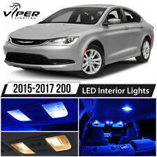 2015-2017 Chrysler 200 Blue Interior LED Lights Package Kit + License Lights