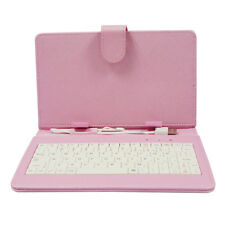 Built-in QWERTY Keyboard for Q8 A33 7inch Tablet w/ Faux Leather Casing Cover