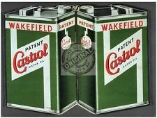 Castrol Motor Oil Can Vintage Wakefield Car Engine Classic, Small Metal/Tin Sign