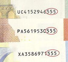Unione Europea 5/10/20 EURO NUMERO FINALE corrispondente cerchiato ~ estremamente raro