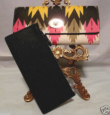 NWT COACH HAWK FEATHER PRINT CROSSGRAIN LEATHER Envelope Wallet with POUCH 53599