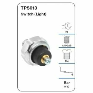 Tridon Oil Pressure Switch TPS013 fits Mazda 818 1.6