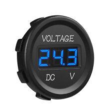 Universal Car DC 12V Voltmeter Blue LED Digital Display Voltage Waterproof Truck