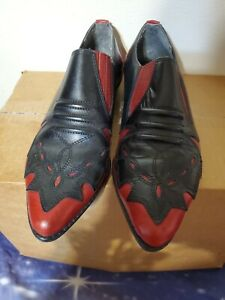 VINTAGE MOOTSIES TOOTSIES MULTICOLOR WESTERN ANKLE BOOTS LEATHER MADE IN BRAZIL