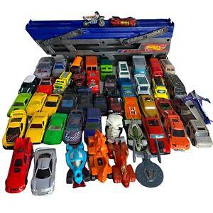 49x Diecast Toy Car Job Lot / Bundle Includes Trailer - Hotwheels, Matchbox etc