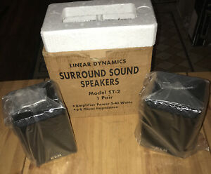 KLH LINEAR DYNAMICS Surround Sound BOOK SHELF Speakers Model ST-2, NEW IN BOX
