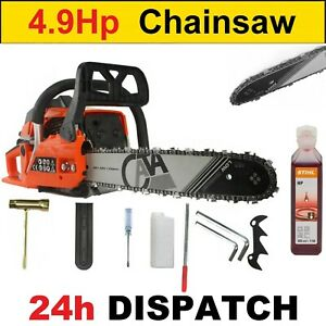 """Petrol Chainsaw FUEL SAVE - 65cc and 4.9HP - 16""""  + Stihl Oil"""
