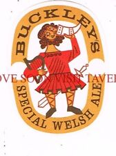 Wales Buckley's Special Welsh Ale Beer label Tavern Trove