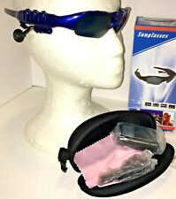 Blue Flip Sunglasses 1 GB MP3  NIB Men Women Youth Music Boxed & Charger Tunes