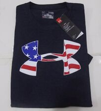 NWT Under Armour Men's Americana Pride T-Shirt TEE Color Black, Blue ,Gray Navy