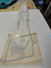 """VINTAGE TROPHY SPECIAL EDITION DECAL GRAY / RED 66 1/2"""" X 12"""" MARINE BOAT"""