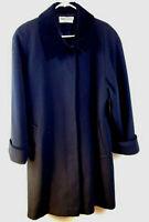 VTG Forecaster of Boston Pea Coat Jacket Womens 16 Black 100% Wool USA