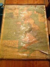 Vintage British Isles Map 1952 M.A.T. Transport Ltd Canvas Rolls Up Large
