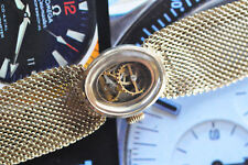 "Vintage SteamPunk ""Watch"" Bracelet With Mesh Band - Handmade Beauty!"