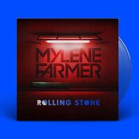 """Mylène Farmer 12"""" Rolling Stone - Limited Edition, Blue Translucent - France"""