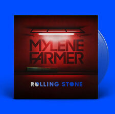 "Mylène Farmer 12"" Rolling Stone - Limited Edition, Blue Translucent - France"