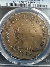 1796 DRAPED BUST DOLLAR, PCGS XF DETAILS, LOW MINTAGE!