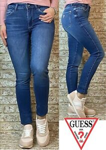 Guess Sexy Curve Super Stretch Skinny Mid Waist Jeans (4662B)
