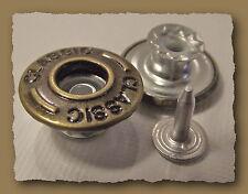 LOT 3  BOUTONS  * 17mm  * Spécial Jean à fixer * aspect bronze  button mercerie