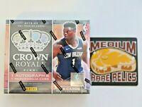 2019-20 First Off The Line Premium Edition Panini Crown Royale FOTL NBA 1 Box