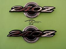 Datsun 240Z 1970 71 Qtr Roof Pillar Emblem Set Pair OEM NEW 402