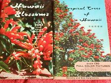 LOT OF 2 BOOKS 1958 HAWAII BLOSSOMS 1964 TROPICAL TREES OF HAWAII COLOR PICTURES
