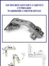 (2X) PAIR OF 135 DEGREE KITCHEN CABINET/CUPBOARD/ WARDROBE CORNER HINGE