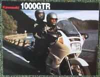 KAWASAKI 1000 GTR MOTORCYCLE SALES BROCHURE 1989/90
