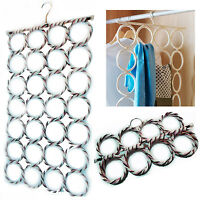 Scarf Hanger Wardrobe Organiser Storage 28 Display Retail Tie Belt Hook Hole