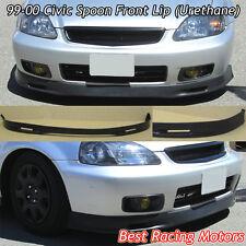 SPN Style Front Bumper Lip (Urethane) Fits 99-00 Honda Civic 4dr