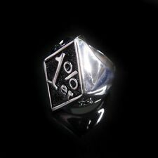 1%ER Crazy Outlaw SYLO Silver Ring for Harley Chopper Hell Angels 81 Biker TR139