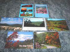 Lot of 7 Postcards of The Blue Ridge Parkway, North Carolina Virginia - Postcard