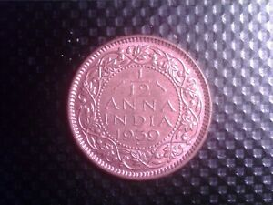 INDIA   1/12    ANNA  1939     SMALL  COIN    SEP27