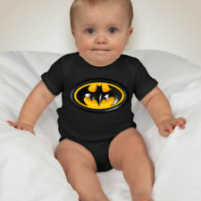 Batman Personalized Baby One Piece with Back Name Print