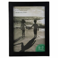 "Northlight 8.25"" Classical 5"" x 7"" Photo Picture Frame Easel Back Matte Black"