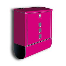 Briefkasten uni pink mit Zeitungsrolle mit Deco Motiv