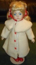 "16"" - Moments Treasured - Porcelain Doll - 1396/2500 - White/Red Winter outfit"