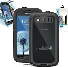 NEW Authentic LifeProof nuud Galaxy S3 Waterproof Shock Proof Case - Black/Clear