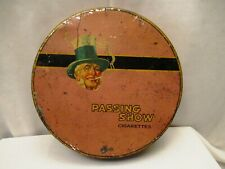 Vintage Passing Show Cigarettes Advertising Tin Box Litho Collectibles 1910 Cir""