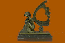 Art Nouveau Picture Frame Fairy Angel Bronze Sculpture Home Decoration Hot Cast