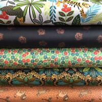 Lewis and Irene 'Panthera' Collection 100% Cotton Fabric Fat Quarter, Half or...