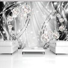 Vliestapete 3D Geo Ugepa Weiss Silber Metallic leuchtend Vision Vlies Tapete