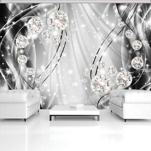 ABSTRAKT 3D Fototapete Diamant Kunst Ausblick Schlafzimmer Wohnzimmer 83