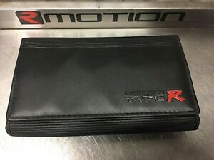 Genuine Integra Type R DC2 OEM Honda Leather Glovebox Document Folder Wallet - R