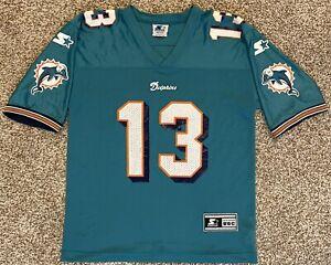 Vintage Starter Dan Marino Kid Sz Medium 10 12 Jersey T Shirt NFL Miami Dolphins