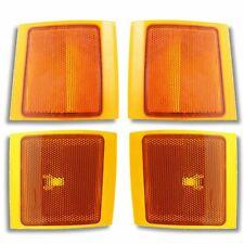Side Marker Corner Lamps Lights 94 98 Chevy Pu Pickup Truck Upper Lower Lampr Set