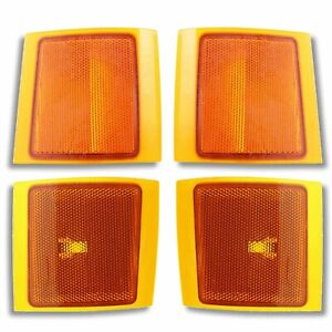 SIDE MARKER CORNER LAMPS LIGHTS 94-98 CHEVY PU Pickup TRUCK Upper Lower L&R SET