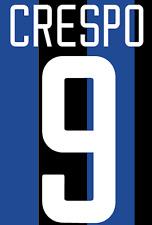 Inter Milan Crespo Nameset Shirt Soccer Number Letter Heat Print Football H 02